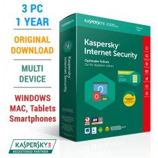 Kaspersky Internet Security 2018 - 3 PC/1 Year (KIS3PC) Full Box